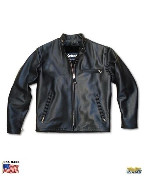 Schott 141 Women's Classic Racer Motorcycle Jacket