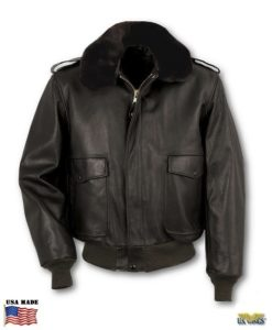 Schott Cowhide Leather Flight Jacket w/zip-out Liner