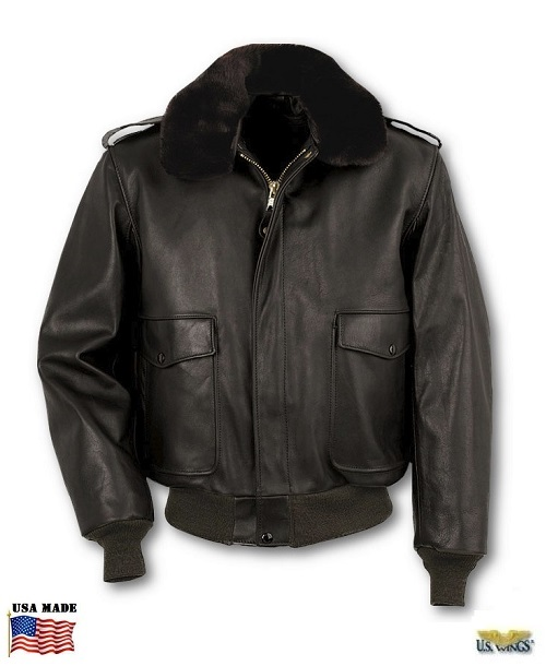 Cowhide Leather Flight Jacket w/zip-out Liner