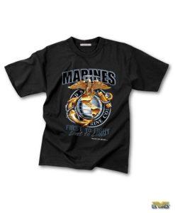 USMC Black T-Shirt