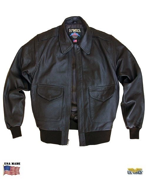 Goatskin Leather Bomber Jacket