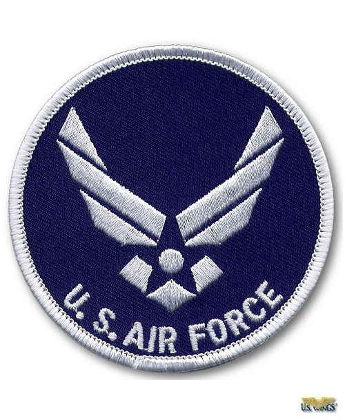 "United States Air Force Retired Circle Embroidered Patches 3/"" Diameter"