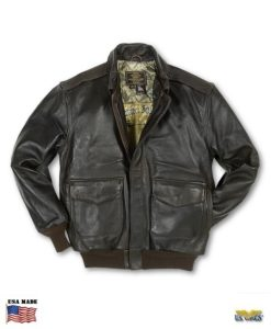 Cockpit® USA Antique Lamb A-2 Jacket w/US Flag Lining