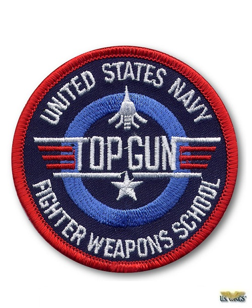 USN Top Gun Fighter Weapons School Patch (3)