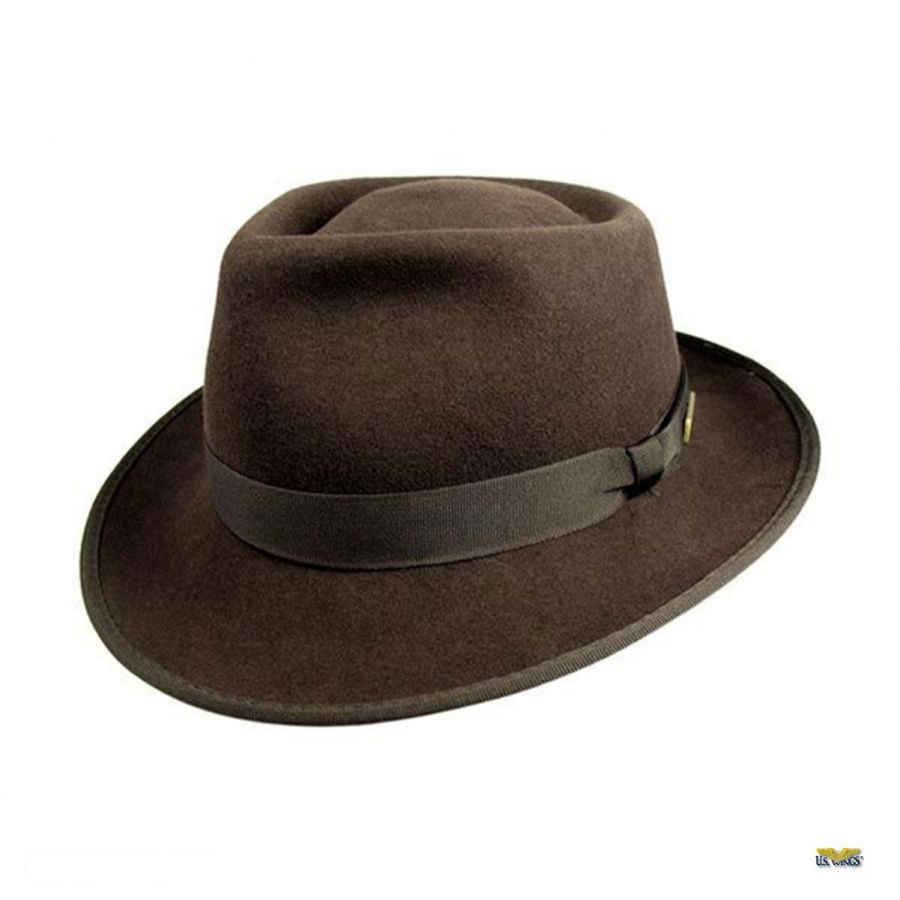 Indiana Jones Crushable Wool Felt Fedora - US Wings 57b37c4b42f