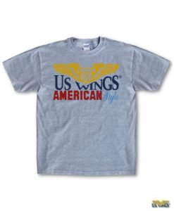 US Wings Kids American Style Silk screened Logo T-Shirt
