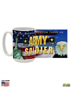 Thank an Army Soldier Mug