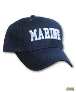Marine Cap with Raised Lettering