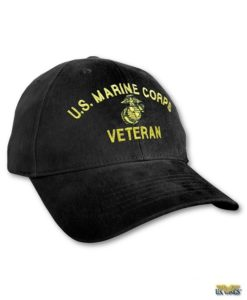 USMC Veteran Cap Black