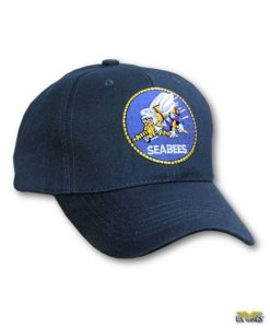 Sea Bees Cap with Round Insignia