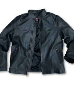 US Wings Black Leather Adventure Jacket