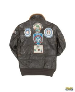The Cockpit® USA Vintage Goatskin G-1 With Patches