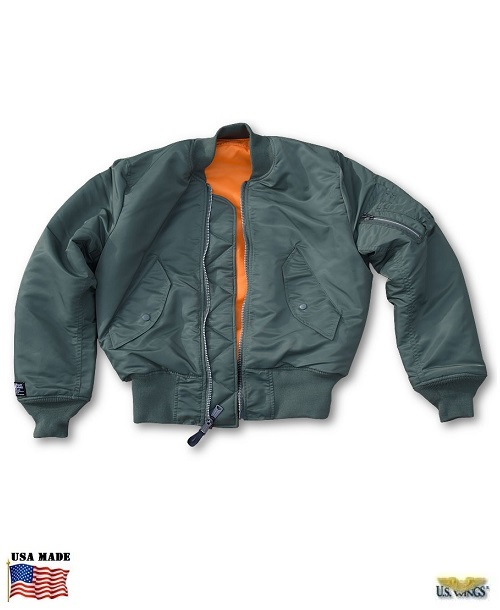 US Made USAF MA-1 Flight Jacket - US Wings 3ef31b67bdf
