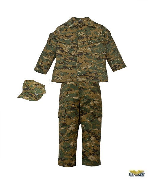 Kids Marine Camo Uniform Set