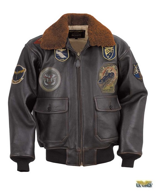 Wings of Gold G-1 Bomber Jacket with Top Gun Patches