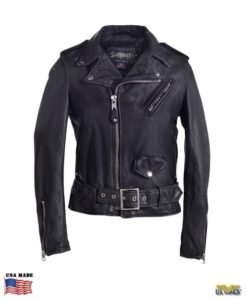 Schott® Women's Vintage Cowhide Leather Motorcycle Jacket