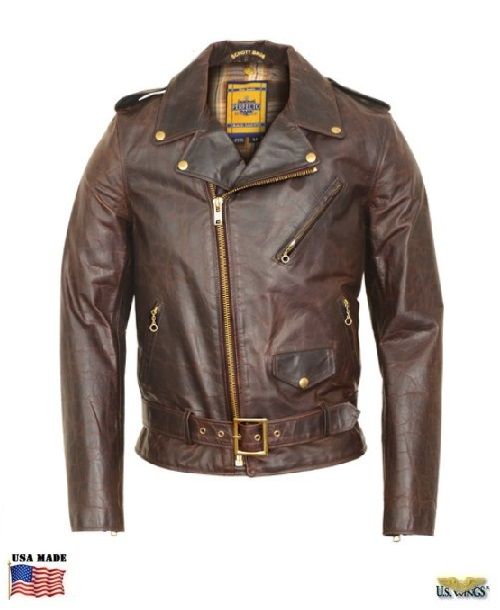 Schott® Lightweight Naked Perfecto Motorcycle Jacket