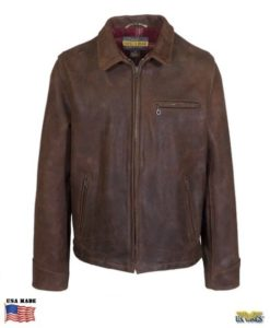 Schott® Heavyweight Oiled Nubuck Leather Biker Jacket