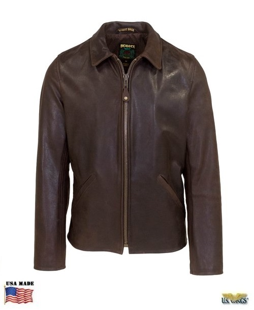Schott® Men's Waxy Vintage Buffalo Leather Sunset Jacket