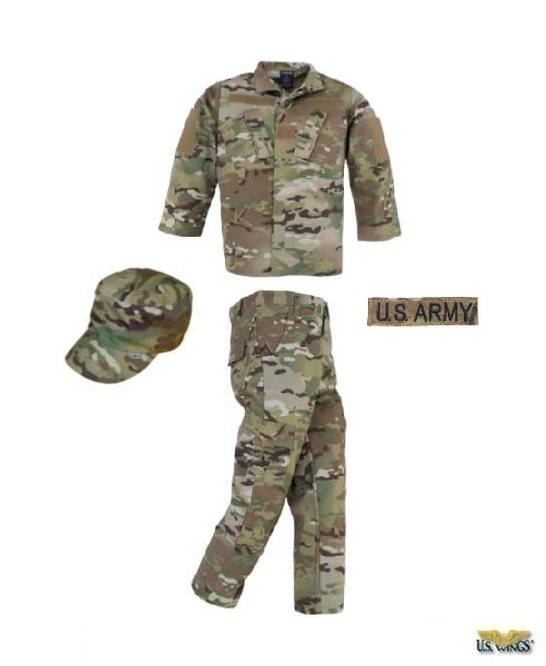 Kids Army/Air Force Multicam Uniform Set